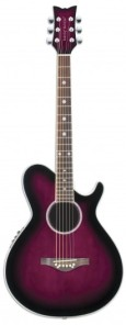Pretty purple Daisy Rock guitar.