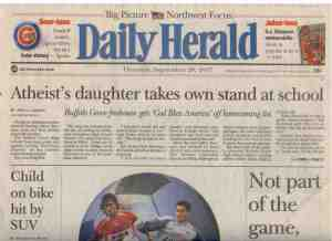 One of the papers where I interned in the Chicago suburbs.