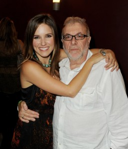 The actual Joe Davola with Sophia Bush of 'One Tree Hill,' which he executive produced.